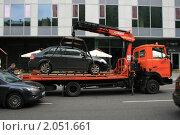 Купить «Эвакуация автомобиля в районе Белорусского вокзала», фото № 2051661, снято 24 августа 2010 г. (c) Александр Мишкин / Фотобанк Лори