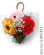 Цветы из бисера. Стоковое фото, фотограф Давыдов Юрий / Фотобанк Лори