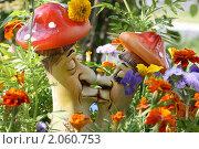 Фигурки грибов (2010 год). Редакционное фото, фотограф Тучкина Любовь Владимировна / Фотобанк Лори