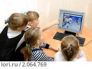 Купить «Школьники на уроке информатики», эксклюзивное фото № 2064769, снято 21 сентября 2010 г. (c) Вячеслав Палес / Фотобанк Лори