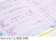 Дневник с двойкой по поведению (2010 год). Редакционное фото, фотограф Макарова Елена / Фотобанк Лори