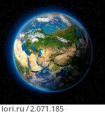 Купить «Земля в космосе», иллюстрация № 2071185 (c) Антон Балаж / Фотобанк Лори