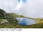 Горное озеро в Абхазии. Стоковое фото, фотограф Башарин Алексей / Фотобанк Лори