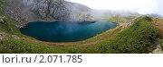 Горное озеро в Абхазии. Панорама. Стоковое фото, фотограф Башарин Алексей / Фотобанк Лори