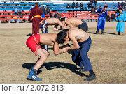 Бурятская национальная борьба (2010 год). Редакционное фото, фотограф Евгений Кузьмин / Фотобанк Лори