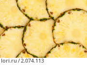 Купить «Ломтики ананаса», фото № 2074113, снято 1 июня 2010 г. (c) Александр Лычагин / Фотобанк Лори