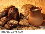 Купить «Молоко и хлеб», фото № 2075609, снято 7 октября 2010 г. (c) Татьяна Белова / Фотобанк Лори