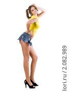 Сексуальная женщина в рваных шортах, фото № 2082989, снято 1 сентября 2009 г. (c) Сергей Сухоруков / Фотобанк Лори