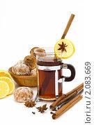 Купить «Чай с лимоном и пряниками», фото № 2083669, снято 20 октября 2010 г. (c) Татьяна Белова / Фотобанк Лори