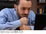 Бизнесмен за компьютером. Стоковое фото, фотограф Андрей Липко / Фотобанк Лори