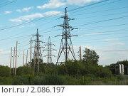 Линия электропередач. Стоковое фото, фотограф Сергей Ксенофонтов / Фотобанк Лори