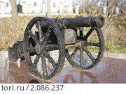 Купить «Пушка г Брянск Покровская гора», фото № 2086237, снято 23 октября 2010 г. (c) Александр Шилин / Фотобанк Лори