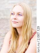Портрет девушки с голубыми глазами. Стоковое фото, фотограф Анна Назарова / Фотобанк Лори