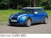 """Купить «Автомобиль """"MINI Cooper"""" (Англия)», эксклюзивное фото № 2091493, снято 3 июня 2010 г. (c) lana1501 / Фотобанк Лори"""