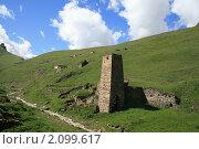 Башня у села Галлиат Дигория. Стоковое фото, фотограф Судаков Валентин / Фотобанк Лори