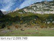 Горная поляна, осень, Осетия. Стоковое фото, фотограф Судаков Валентин / Фотобанк Лори