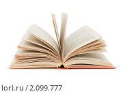 Купить «Раскрытая книга на белом фоне», фото № 2099777, снято 17 октября 2010 г. (c) Воронин Владимир Сергеевич / Фотобанк Лори