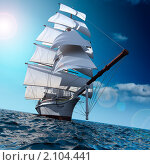 Парусник в море, иллюстрация № 2104441 (c) Антон Балаж / Фотобанк Лори