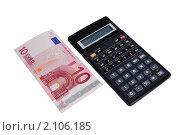 Купить «Калькулятор и евро», эксклюзивное фото № 2106185, снято 3 ноября 2010 г. (c) Юрий Морозов / Фотобанк Лори