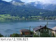 Вид на озеро Вольфгангзее сверху. Санкт-Вольфганг. Австрия (2010 год). Стоковое фото, фотограф Валерий Степанов / Фотобанк Лори