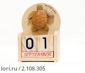 Сувенир в виде деревянного календаря. Стоковое фото, фотограф Марков Николай / Фотобанк Лори