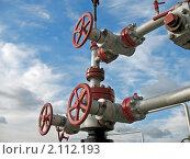 Купить «Вентили на трубопроводе», фото № 2112193, снято 16 сентября 2007 г. (c) Георгий Shpade / Фотобанк Лори