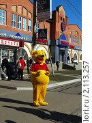 Купить «Винни-пух на улице города», фото № 2113257, снято 9 октября 2010 г. (c) Глазков Владимир / Фотобанк Лори