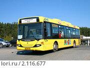"""Купить «Бесплатный автобус до магазина """"Мега""""», фото № 2116677, снято 9 мая 2010 г. (c) Art Konovalov / Фотобанк Лори"""