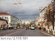 Купить «Улица Гагарина во Владимире», эксклюзивное фото № 2119181, снято 5 ноября 2010 г. (c) Яков Филимонов / Фотобанк Лори