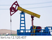 Нефтяной станок-качалка крупным планом. Стоковое фото, фотограф Фрибус Екатерина / Фотобанк Лори