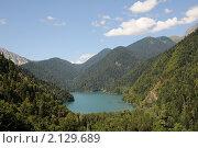Озеро Рица (вид сверху) Стоковое фото, фотограф Еремин Владимир / Фотобанк Лори