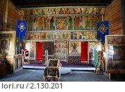Карелия, Кижи. Покровская церковь, внутреннее убранство, фото № 2130201, снято 19 июля 2010 г. (c) Олег Титов / Фотобанк Лори
