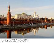 Купить «Кремль. Перед закатом.», фото № 2140601, снято 19 марта 2019 г. (c) Юрий Кирсанов / Фотобанк Лори
