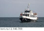Купить «Прогулочный теплоход в море», фото № 2140709, снято 7 сентября 2010 г. (c) Минакова Татьяна / Фотобанк Лори
