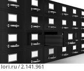 Купить «Шкаф для документов на белом фоне», иллюстрация № 2141961 (c) Ильин Сергей / Фотобанк Лори