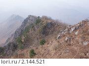 Вид с горы Чёртов Утёс (760 м). Хребет Чандолаз, Приморский край. Стоковое фото, фотограф Евгений Ковешников / Фотобанк Лори