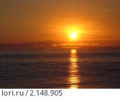 Купить «Рассвет в Уссурийском заливе (Японское море)», фото № 2148905, снято 12 сентября 2007 г. (c) Светлана Ильева (Иванова) / Фотобанк Лори