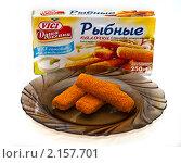 Купить «Рыбные палочки и их упаковка», фото № 2157701, снято 23 ноября 2010 г. (c) Куликова Вероника / Фотобанк Лори
