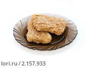 Купить «Кусочки курицы в панировке на тарелке», фото № 2157933, снято 23 ноября 2010 г. (c) Куликова Вероника / Фотобанк Лори