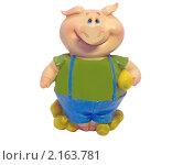Свинка-копилка (мальчик) (2010 год). Редакционное фото, фотограф Дмитрий Батталов / Фотобанк Лори