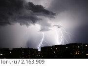 Ночная гроза. Стоковое фото, фотограф Андрей Каплинский / Фотобанк Лори