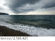 Купить «Непогода на море. Пицунда. Абхазия», фото № 2165421, снято 22 сентября 2010 г. (c) Охотникова Екатерина *Фототуристы* / Фотобанк Лори