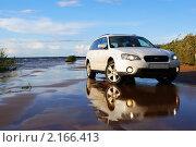 Белый автомобиль (2010 год). Редакционное фото, фотограф Олеся Малиновская / Фотобанк Лори