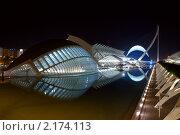 Купить «Валенсия. L'Hemisferic. Город искусства и науки ночью», фото № 2174113, снято 7 ноября 2010 г. (c) Maria Kuryleva / Фотобанк Лори