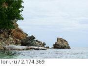Купить «Скалистый берег», фото № 2174369, снято 26 июня 2010 г. (c) Купченко Владимир Михайлович / Фотобанк Лори