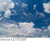 Купить «Облачное небо», фото № 2177037, снято 21 июня 2010 г. (c) Олег Рубик / Фотобанк Лори