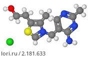 Купить «Шаростержневая модель молекулы тиамина», иллюстрация № 2181633 (c) Владимир Федорчук / Фотобанк Лори