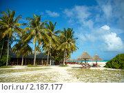 Мальдивский пляж (2010 год). Стоковое фото, фотограф Сергеева Дарья / Фотобанк Лори