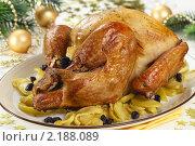 Купить «Индейка, фаршированная яблоками, хлебом и изюмом», эксклюзивное фото № 2188089, снято 2 декабря 2010 г. (c) Лисовская Наталья / Фотобанк Лори