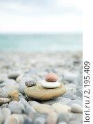 Разноцветная морская галька. Стоковое фото, фотограф Екатерина Давыдова / Фотобанк Лори